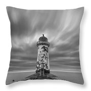 Deserted Lighthouse Throw Pillow