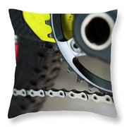 Detail Of A Transmition System Throw Pillow