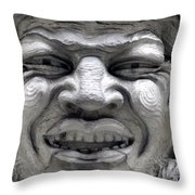 Devilish Smile Throw Pillow