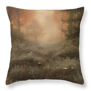 Dew Drenched Furze  Throw Pillow