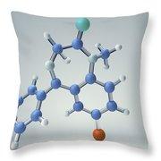 Diazepam Molecule Throw Pillow