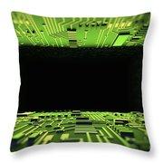 Digital Tunnel Throw Pillow