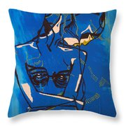 Dinka Painted Lady - South Sudan Throw Pillow