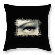 Distorted Eye Throw Pillow