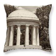 District Of Columbia War Memorial Throw Pillow