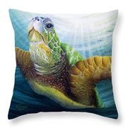 Diving The Depths Throw Pillow