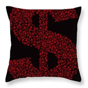 Dollar People Icon Throw Pillow