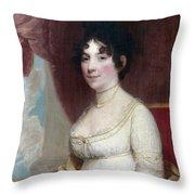 Dolley Payne Todd Madison (1768-1849) Throw Pillow