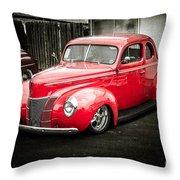 2 Door Red Throw Pillow