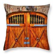 Doors Of Charleston Throw Pillow