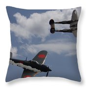 Down One Throw Pillow