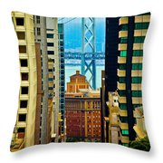 Down To The Bay Throw Pillow