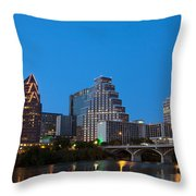 Downtown Austin Skyline Throw Pillow