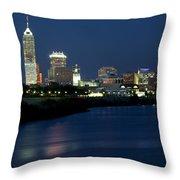 Downtown Indianapolis Indiana Throw Pillow
