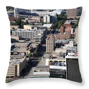 Downtown Lincoln Throw Pillow