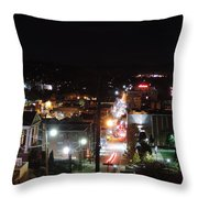 Downtown Morgantown From Above Throw Pillow