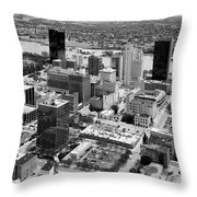 Downtown Skyline Of Toledo Ohio Throw Pillow