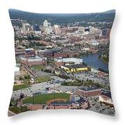 Downtown Skyline Of Wilmington Throw Pillow