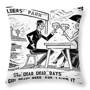 Drinking, C1925 Throw Pillow