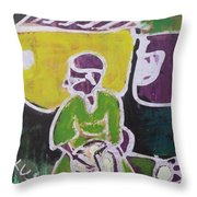 Drummer Boy In The Town Throw Pillow