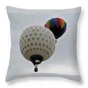 Dueling Balloons Throw Pillow