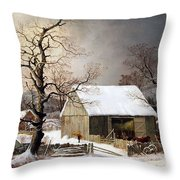 Durrie's Winter In The Country Throw Pillow