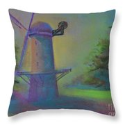 Dutch Windmill 02 Throw Pillow