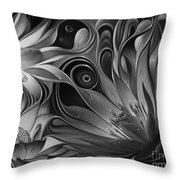 Dynamic Floral Fantasy Throw Pillow
