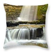 Eagle Cliff Falls Throw Pillow