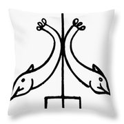 Early Christian Symbol Throw Pillow
