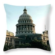 Early Morning At The Texas State Capital Throw Pillow