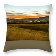East End Of Emmett Valley Throw Pillow