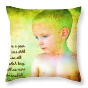 Ecclesiastes 4 13 Throw Pillow