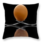 Egg On Top Of Forks Throw Pillow