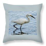 Coastal Egret Throw Pillow