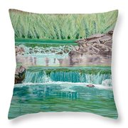 Eighteenth Hole Ball In The Water Throw Pillow