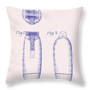 Electric Razor Patent 1939 Throw Pillow