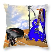 Electrical Meltdown II Throw Pillow