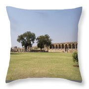 Elephant Stables Throw Pillow