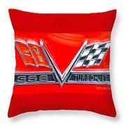 396 Turbo Jet Emblem Throw Pillow
