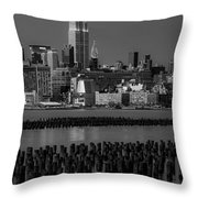 Empire State Building Dressed Up In Pastels Throw Pillow