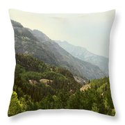 Engineer Pass In Colorado  Throw Pillow