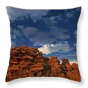 Eroded Sandstone Formations Fantasy Canyon Utah Throw Pillow