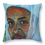 Ethiopian Lady Throw Pillow