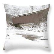 Everett Covered Bridge  Throw Pillow