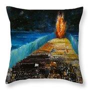 Exodus Throw Pillow by Richard Mcbee