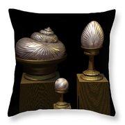 Faberge Style White Gold Throw Pillow