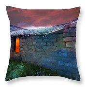 Fairy Tale Cabin Throw Pillow