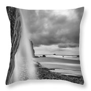 Falling Into The Sea Throw Pillow by Jon Glaser