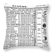Family Almanac, 1874 Throw Pillow